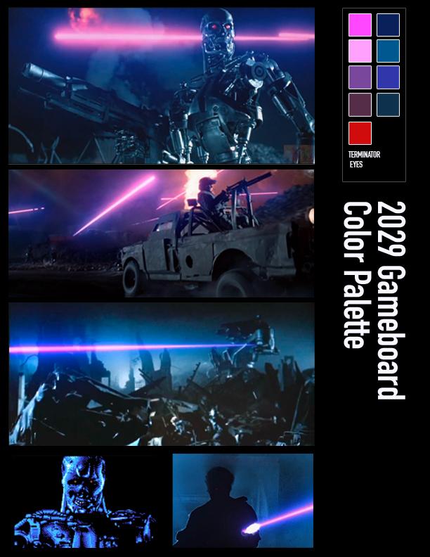 2029 Game Board Color Palette
