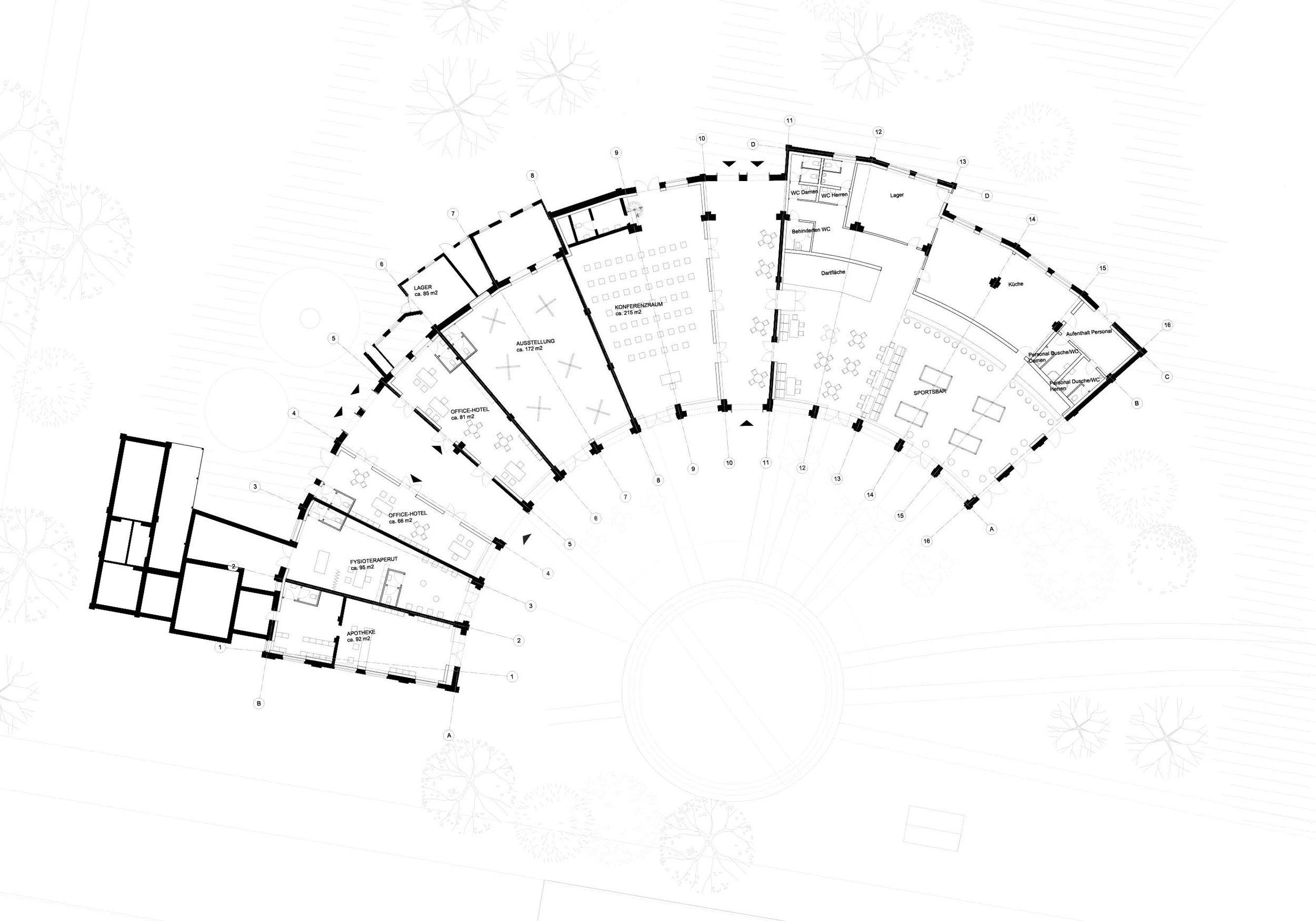 Ground floor plan, Lokschuppen 1