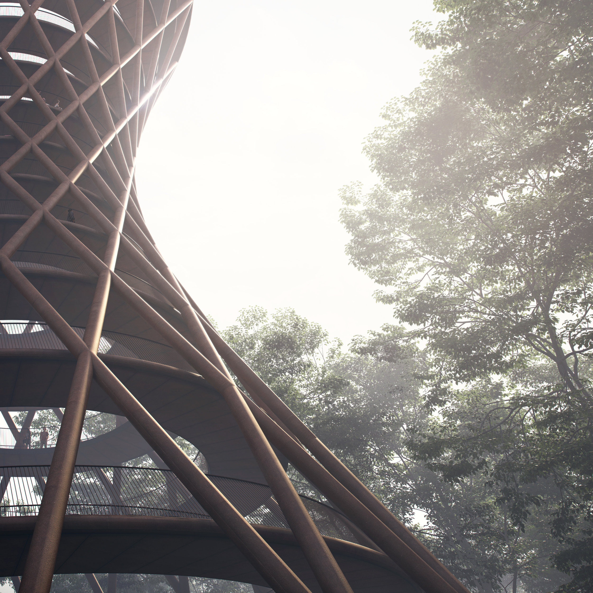 View of the observation tower from the ground