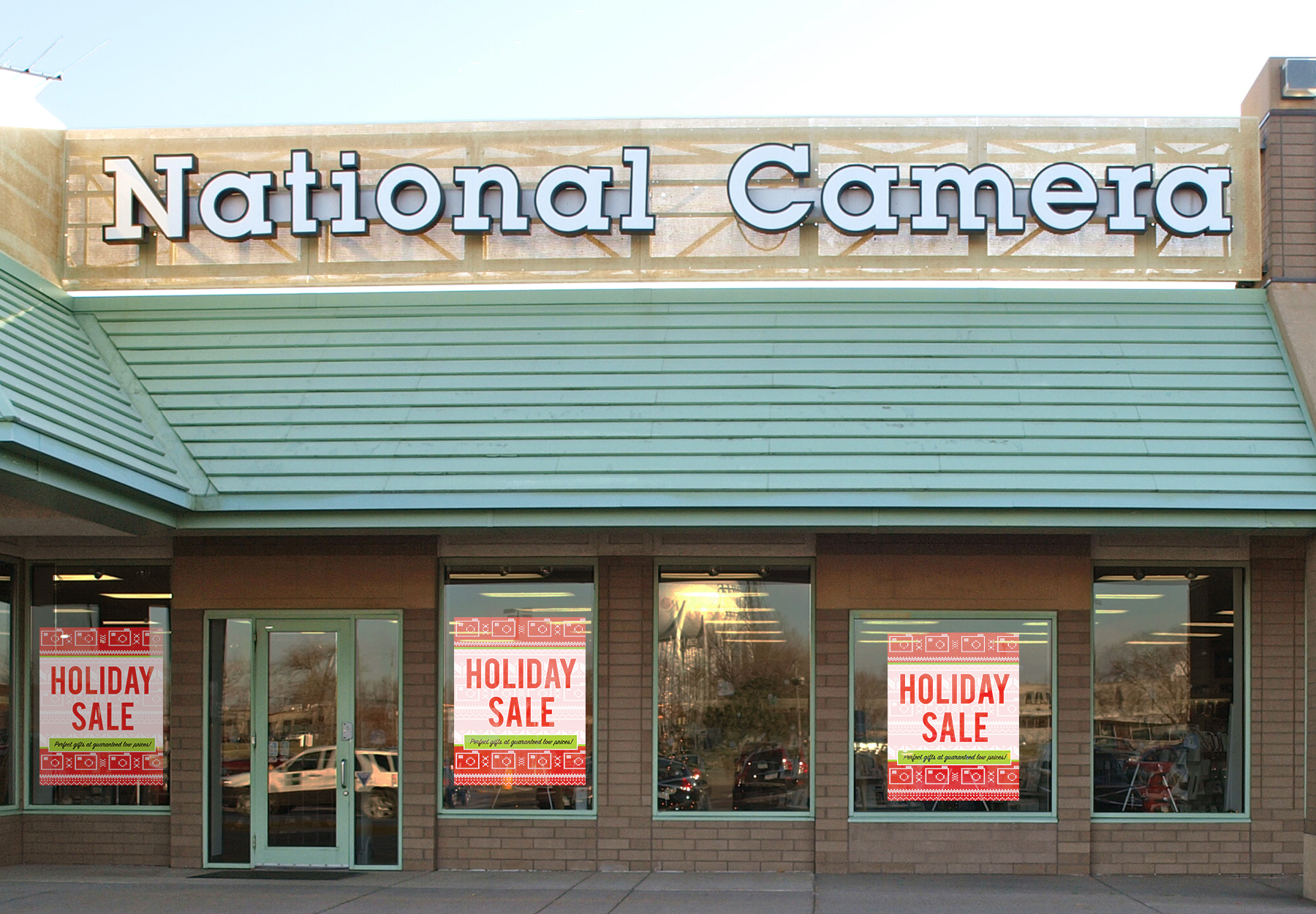 Store Display - Large format window signage is used to attract customers during peak shopping times.