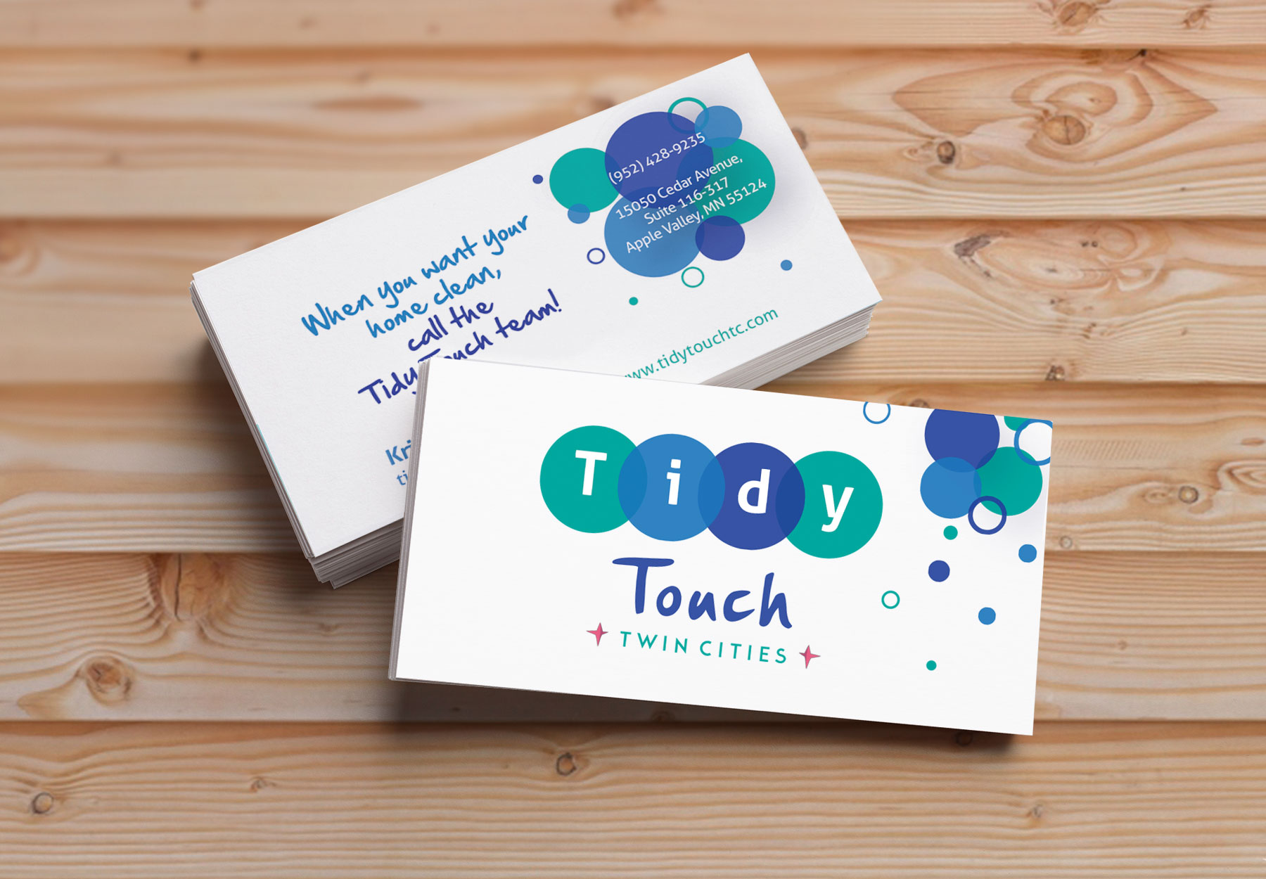 Business Cards - A clean layout to define the cleanliness of the brand.