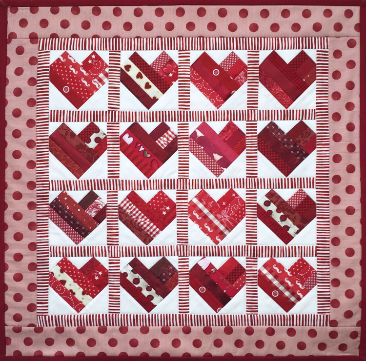 Beginning Paper-Piecing (Harmonious Hearts) — Quilted Angel