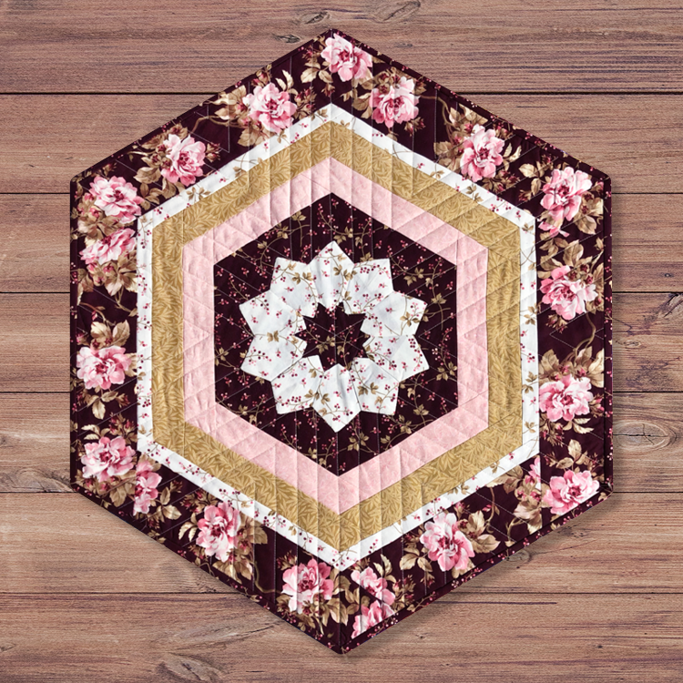 Dresden Table Topper by Quilted Angel