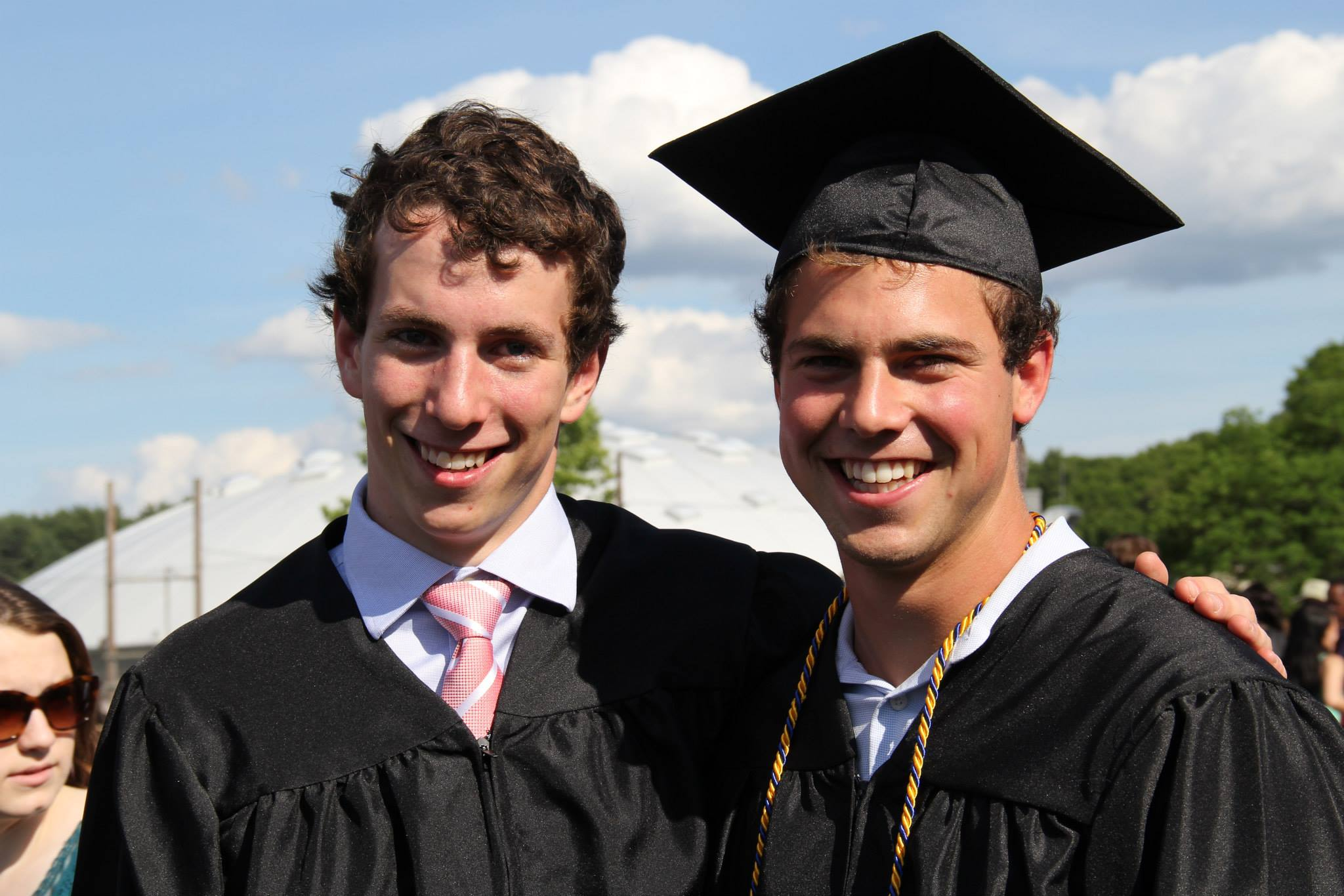 Jacob and Zander at their high school graduation.