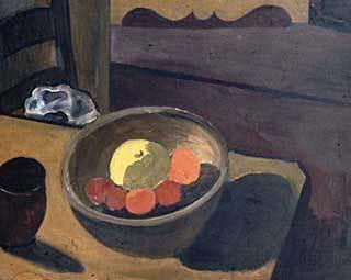 Alice Neel. Still life with fruit.