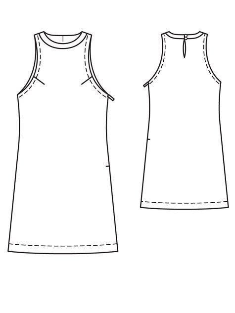 Burda Shift Dress 04/2013 #109A