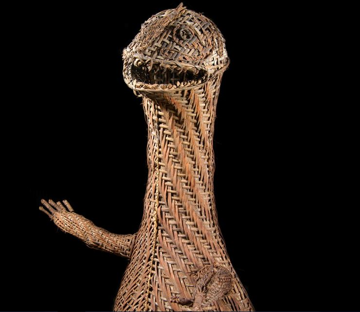 Trocadero art dealers. A rare PNG wicker body mask 1.JPG