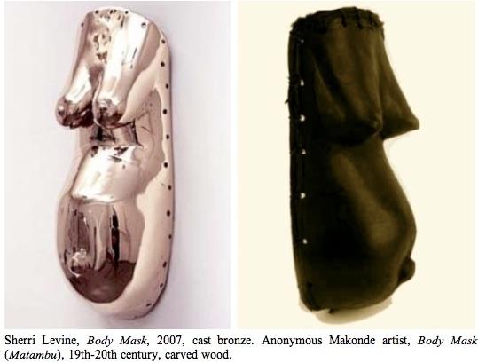 Sherri-Levine-body-mask-2007-cast-bronze&anon-makonde-artist