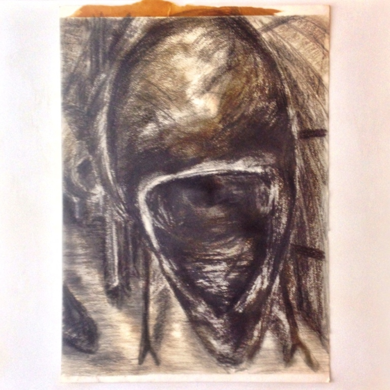 Charcoal, pastels & ashphaltum on rag paper, 1995