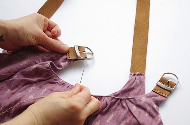 [DIY] Maxi dress with leather straps fashion tutorial by xenia kuhn for fashion blog www.fashionrolla.com-8