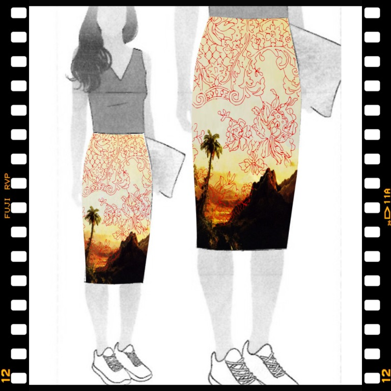 Palms - on Style Arc's Rita Skirt illustration
