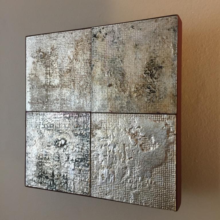 Gilded textured rag paper
