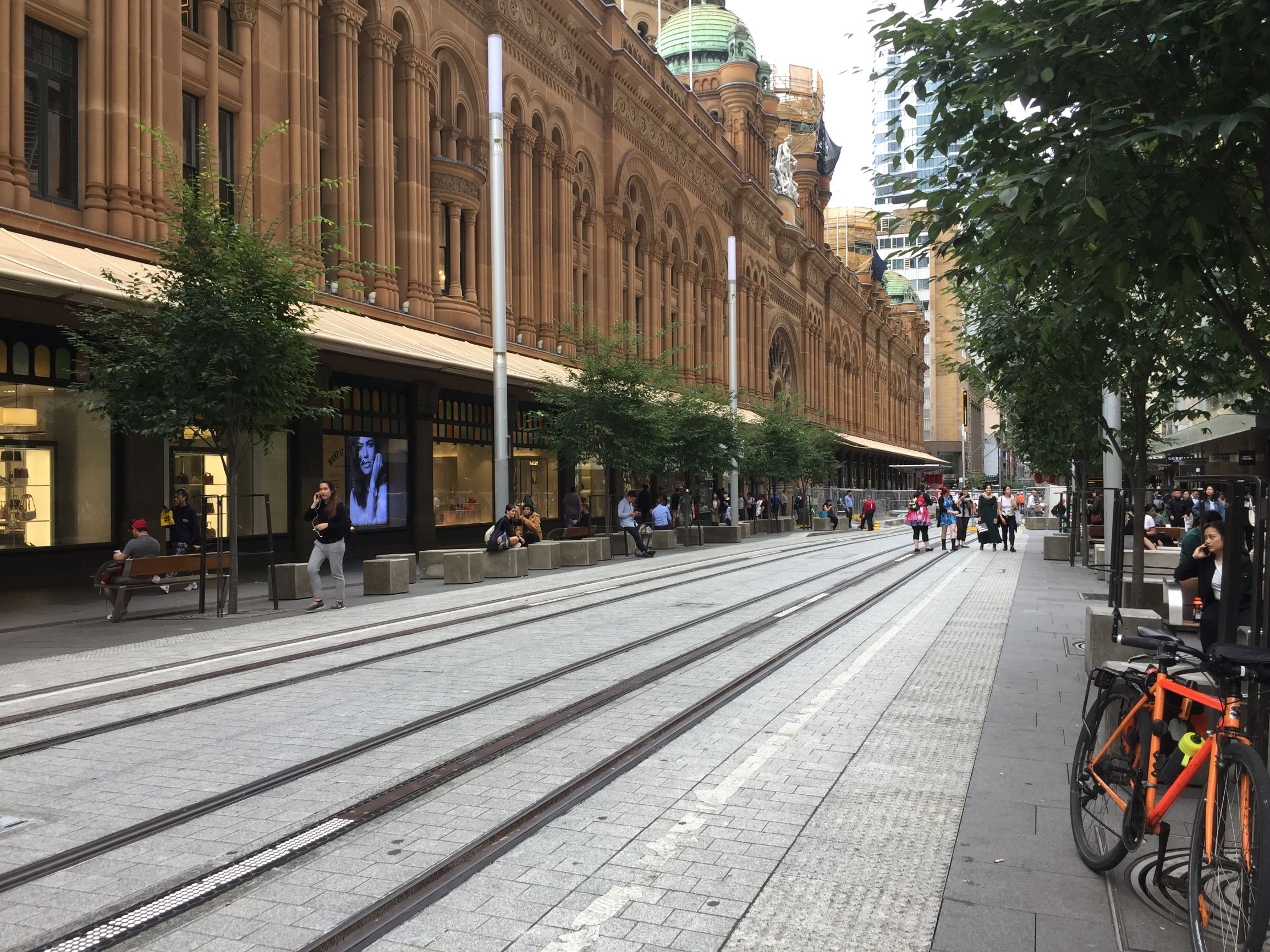 George Street outside QVB, Sydney city