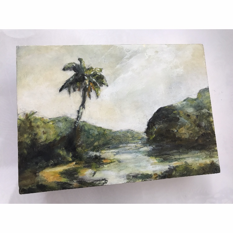 I love this thing! The best fun in ages, painting a little landscape with graphite & oil paint, how cool is that