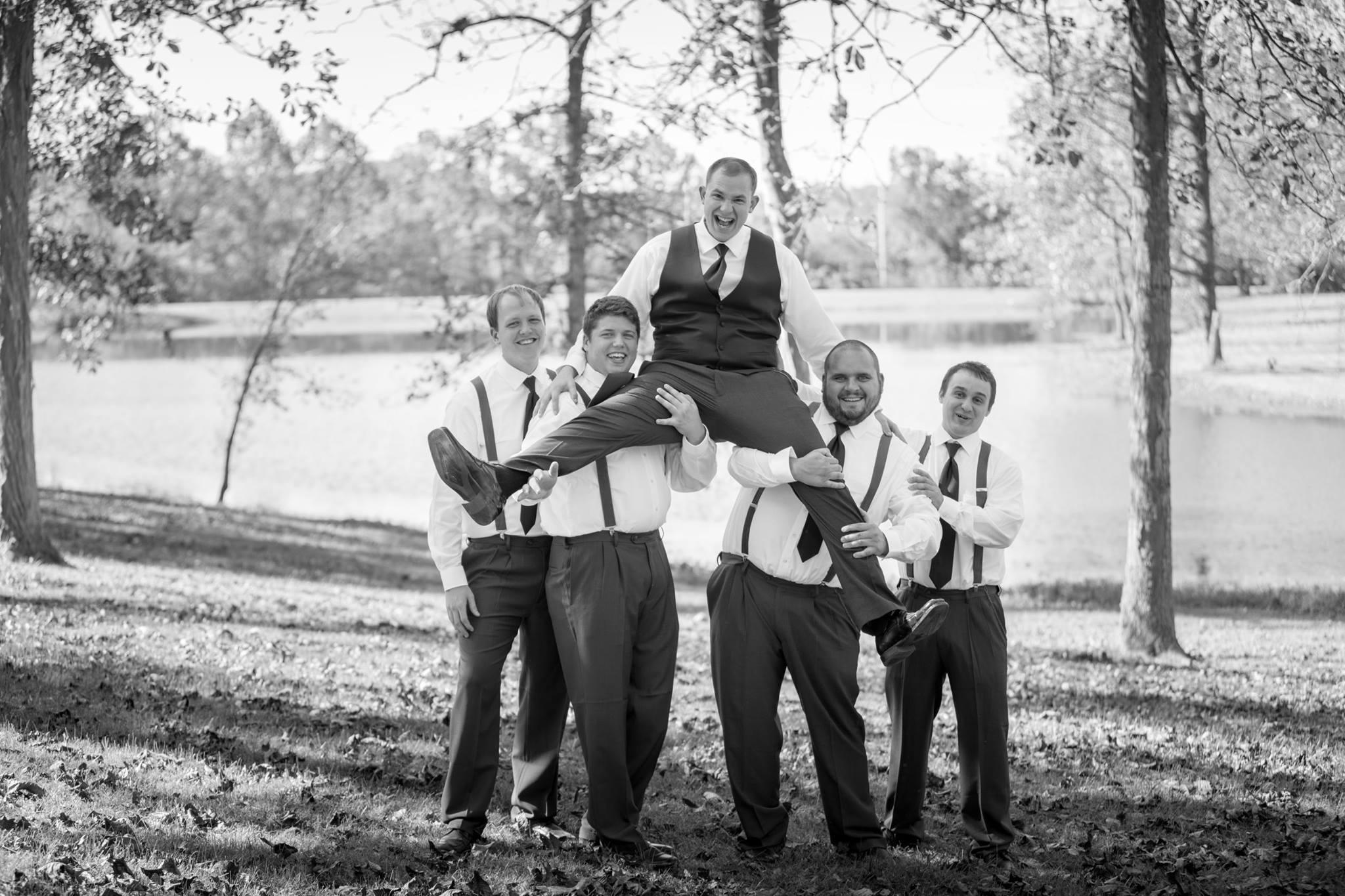 Goofy Groom Photo Lake Ozark Wedding Photographer