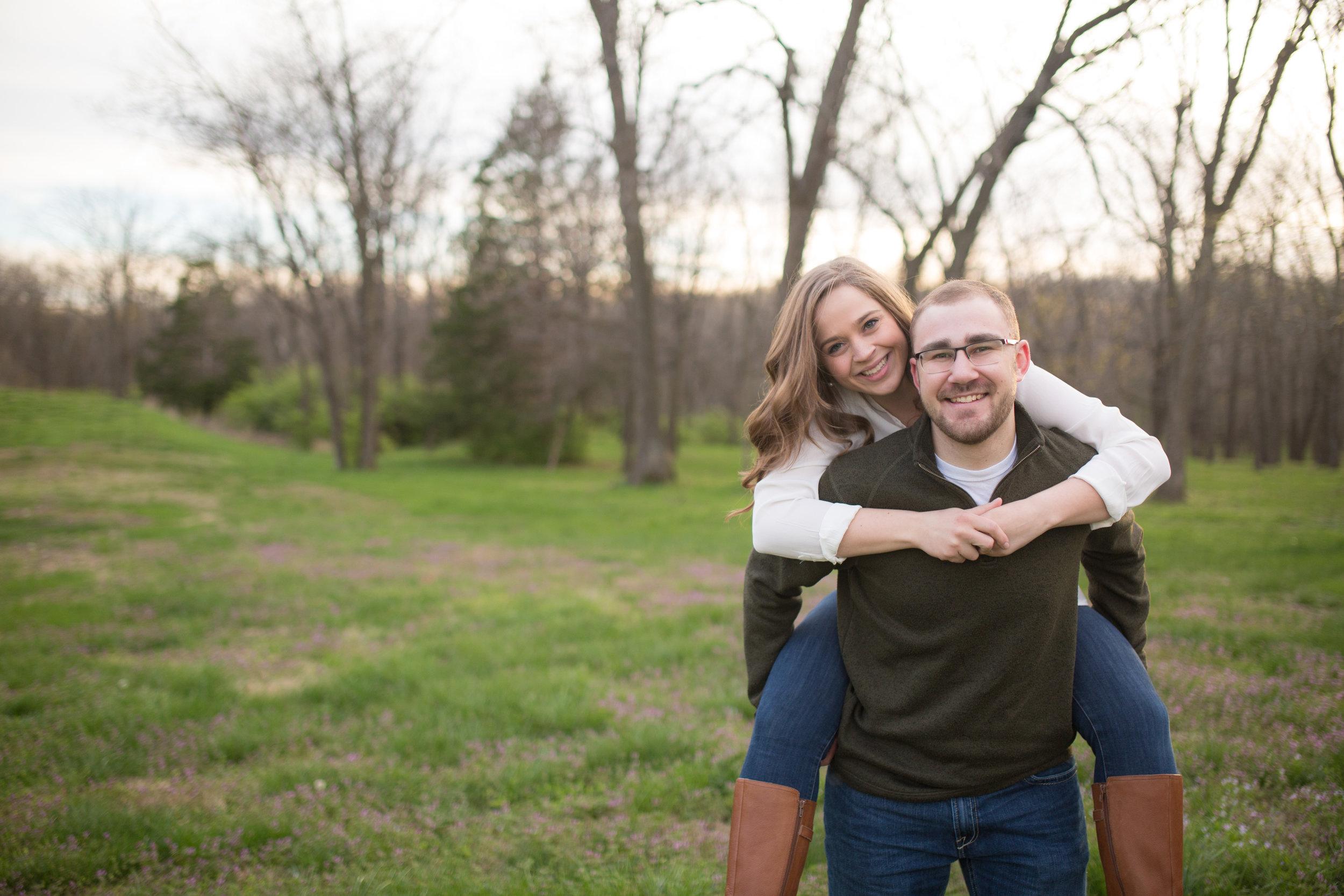Fun Engagement Photographer Columbia MO