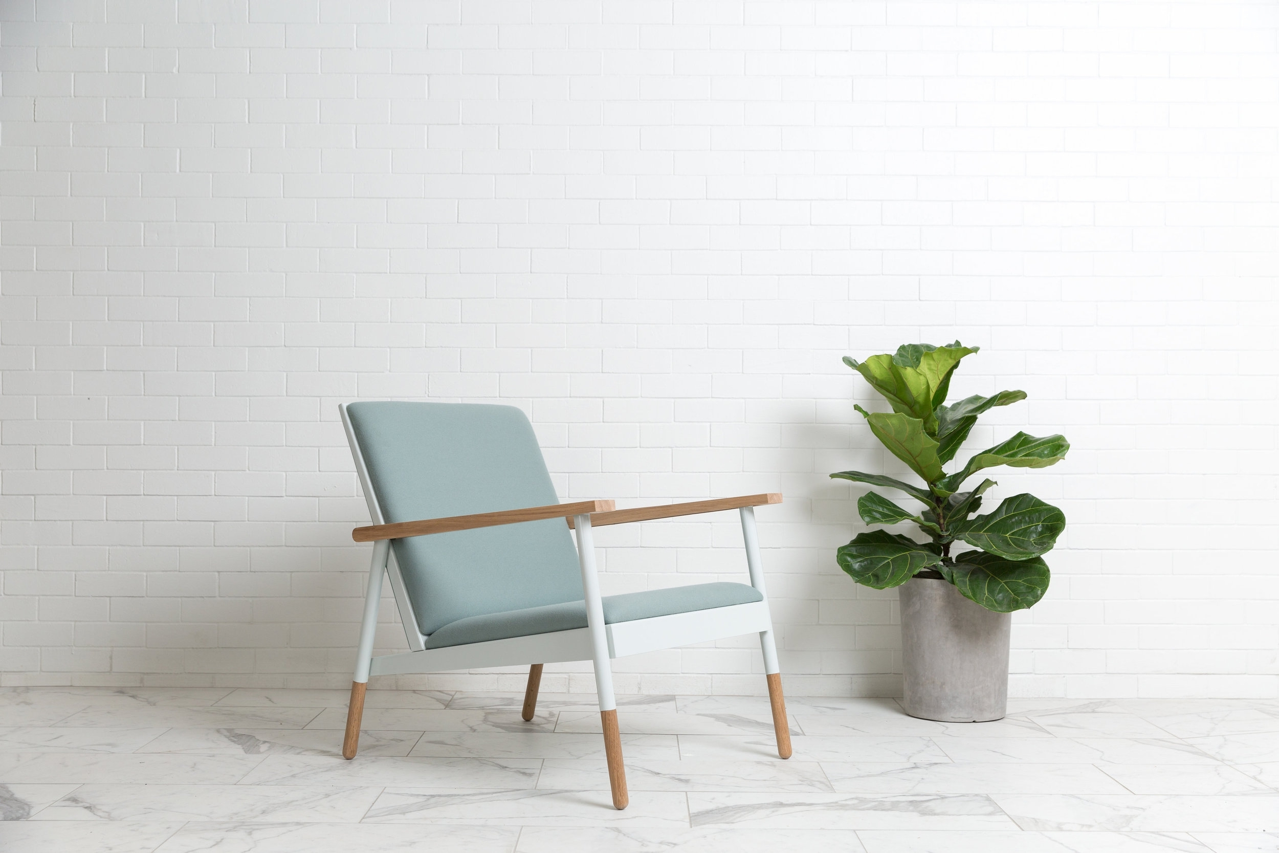 Haven Lounge Chair Jade & Oak