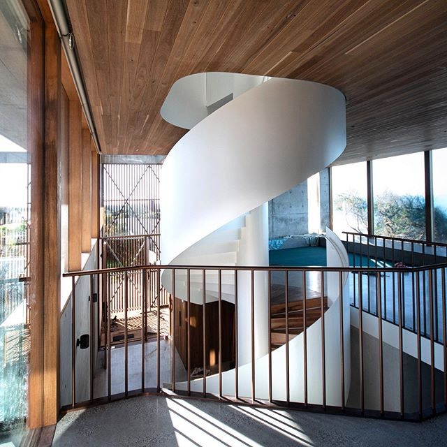 @auhaus #cliffhouse central void and stair @ashleycrowebuilders