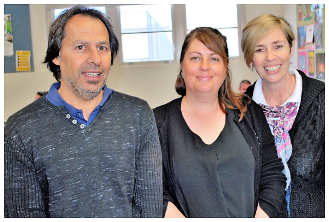 The AET is comprised of (from left to right) Phil Noel (ACEO), Jade Barry (Teacher) and Carmel Taylor (Teacher).
