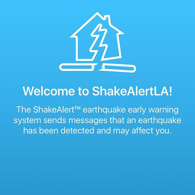 // We support 👆innovative uses of technology to help people #feelsafe and #beinformed in the face of #naturaldisasters // 🔥🌪🌊 // If you live in Los Angeles consider downloading #ShakeAlertLA to your 📲 // ShakeAlertLA by City of Los Angeles. #goodwerk @mayorofla