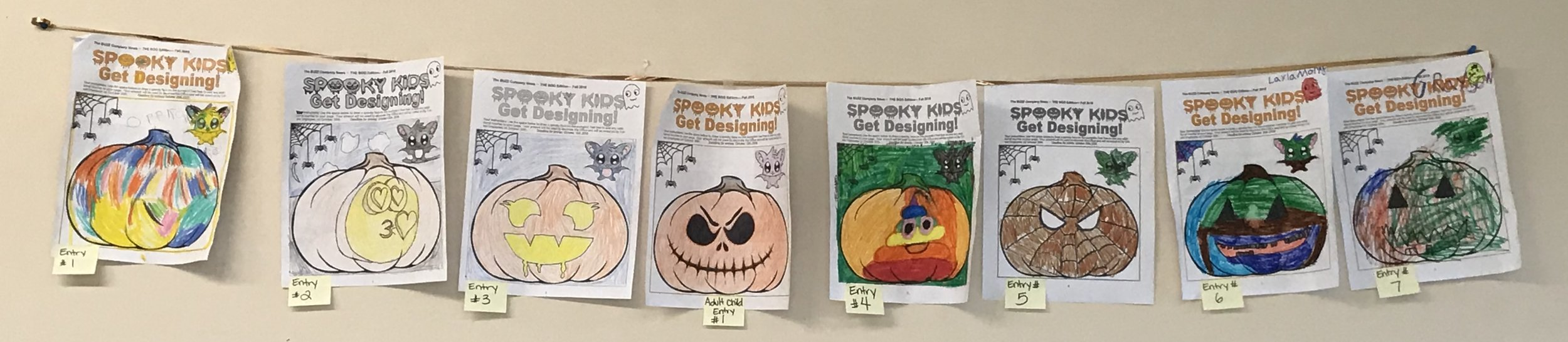 Colwin Kids get Designing FALL 2018 Contest Entries