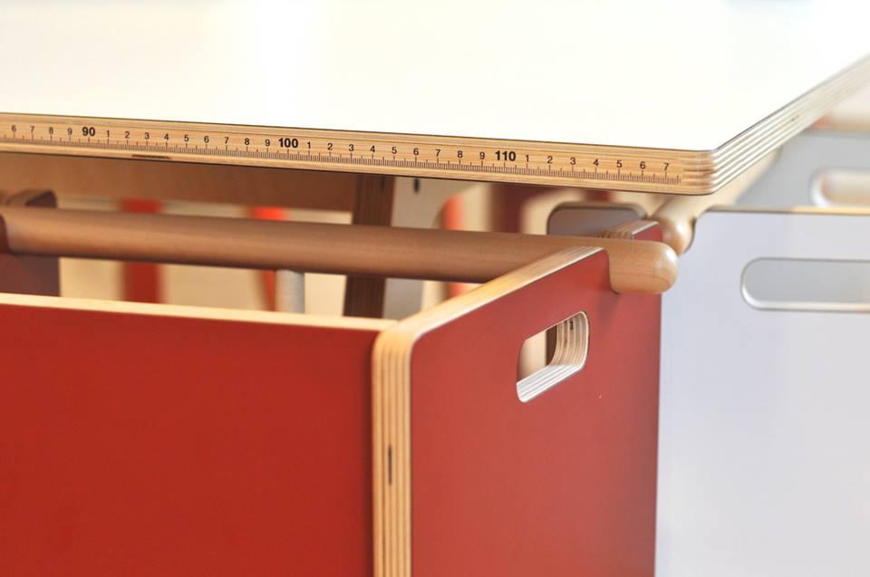 Integrert tommestokk for unge lovende arkitektspirer :)