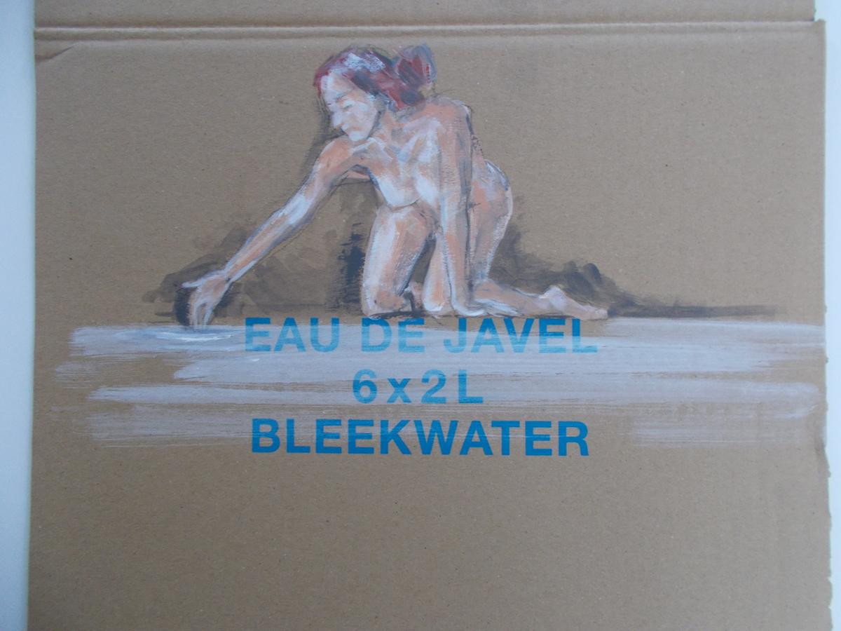 Acrylic paint on cardboard