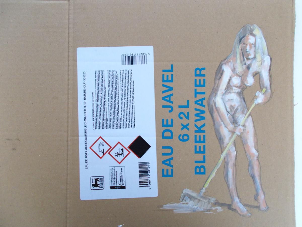 acrylic paint & pencil on cardboard