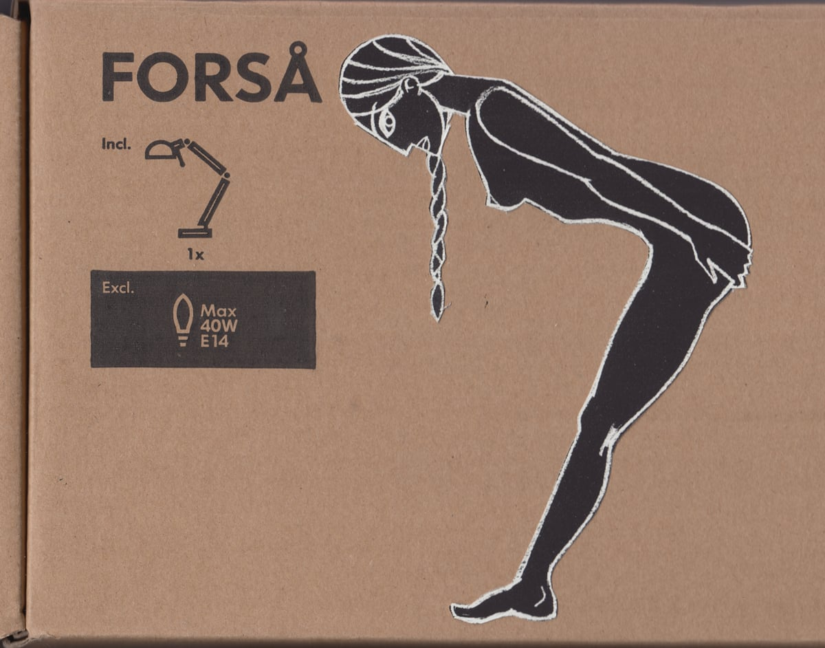 drawing mounted on IKEA-packaging cardboard