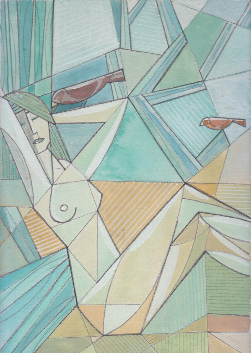 pencil, aquarel & gouache on paper - 29,7 x 21 cm