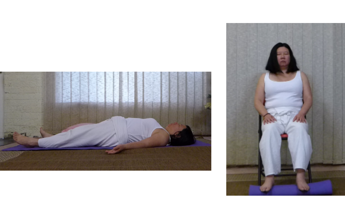 Shavasana/Seated in a chair