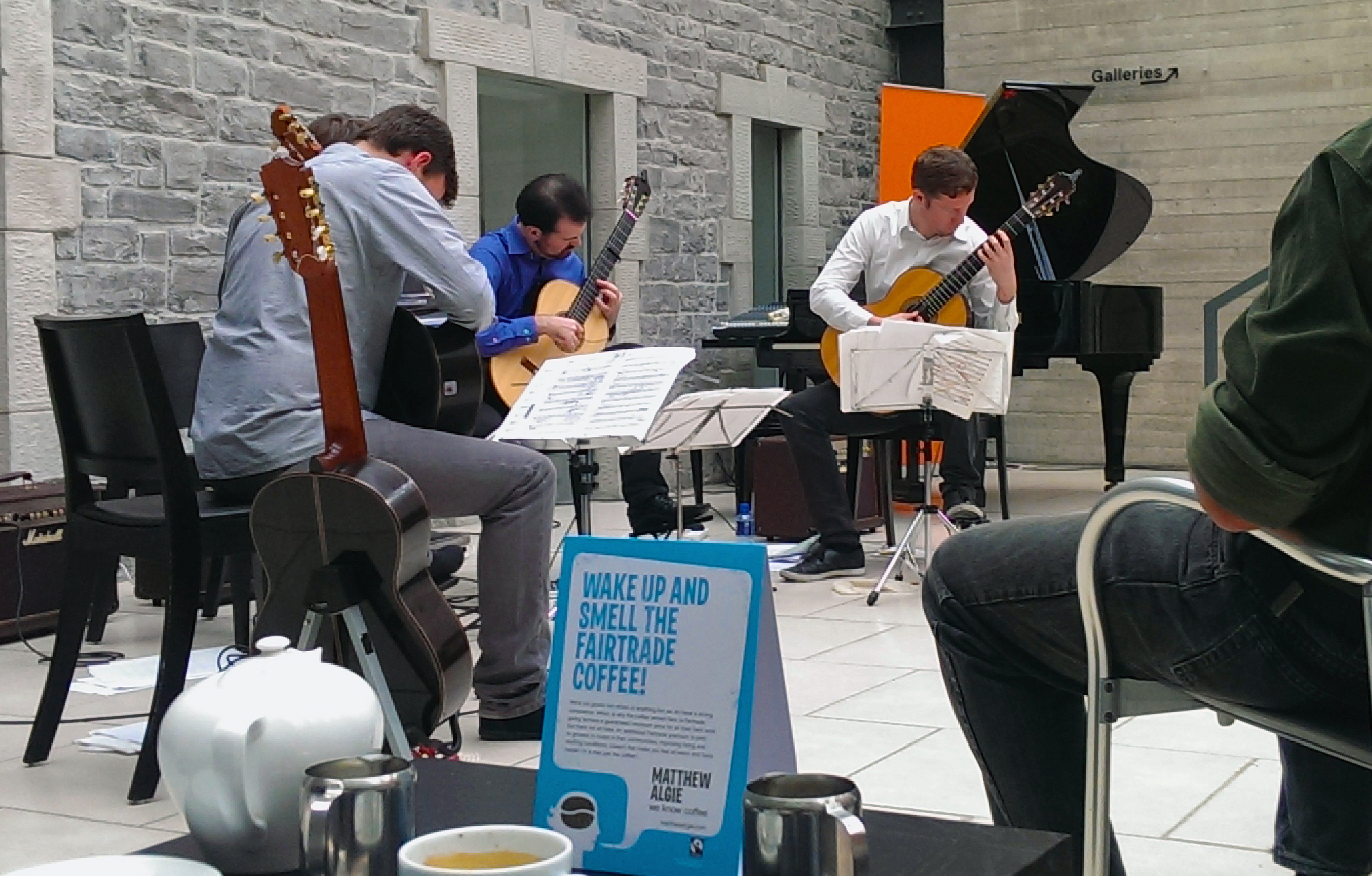 Dublin Guitar Quartet performing a Philip Glass violin concerto at an IMA in late 2013