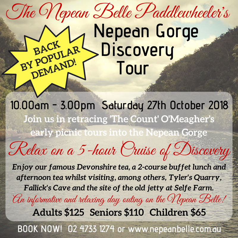 Nepean Gorge Discovery Cruise Nepean Belle