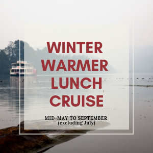 enjoy your winter lunch cruise in centrally heated comfort on board the nepean belle. watch the afternoon slip by with wonderful fare and enjoy a different perspective of the nepean river.
