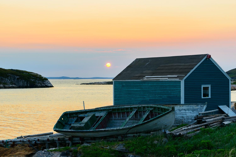 Boathouse and Fishing Dory