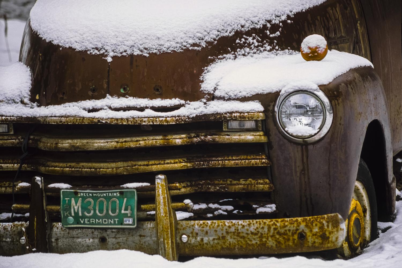 Vintage Truck in Snow