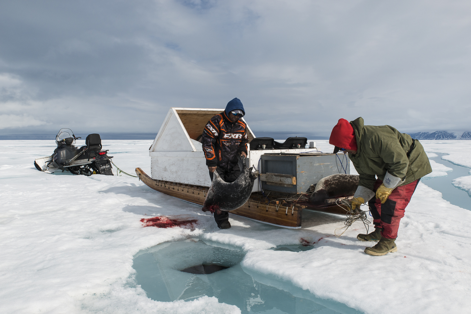 Inuit Hunters at the Seal Hole