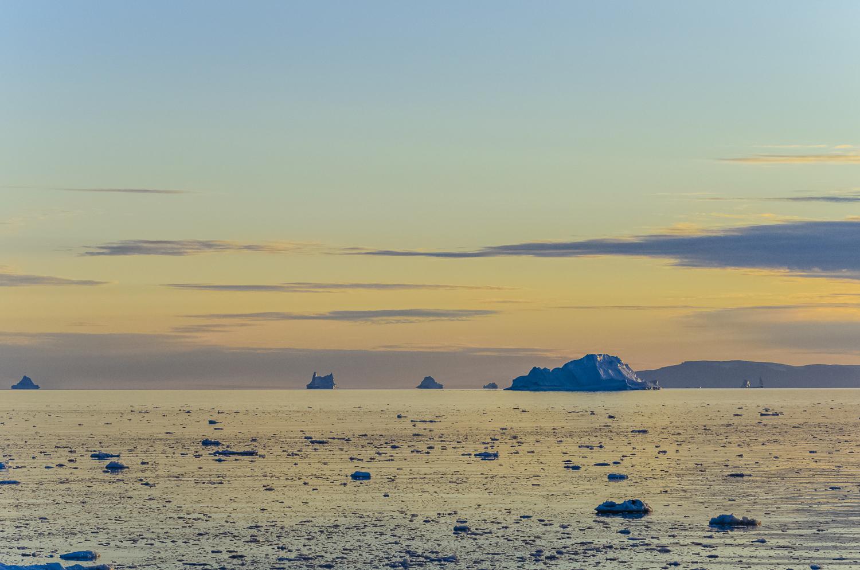 A Golden Evening in Disko Bay