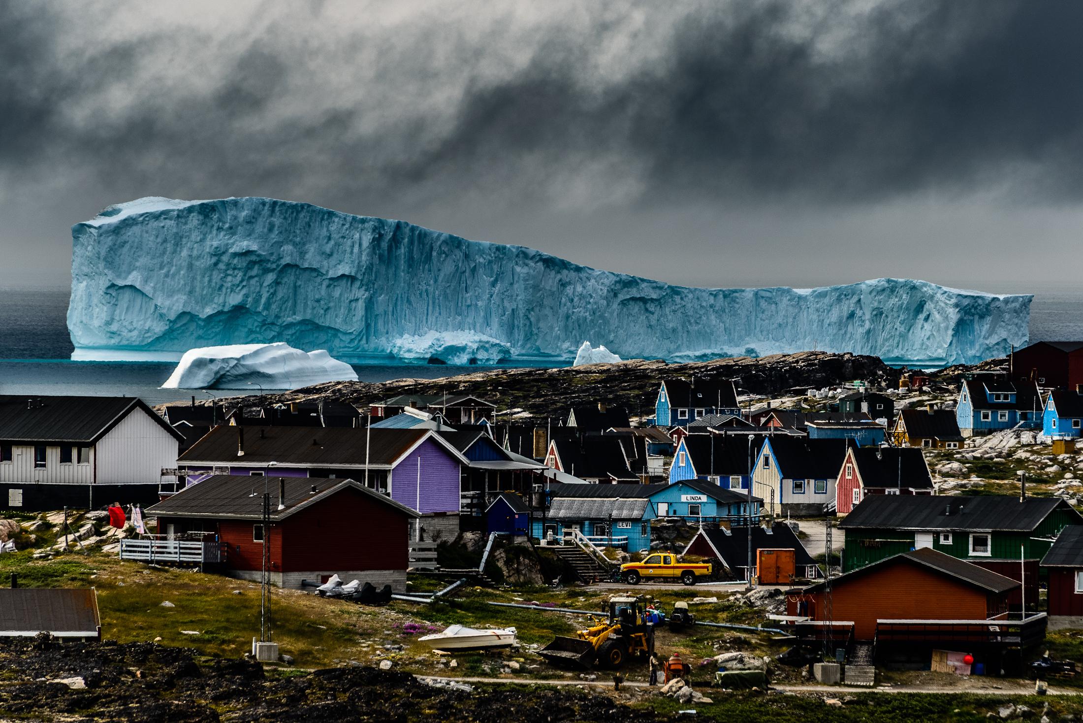 Massive Iceberg Looming Over Qeqertarsuaq