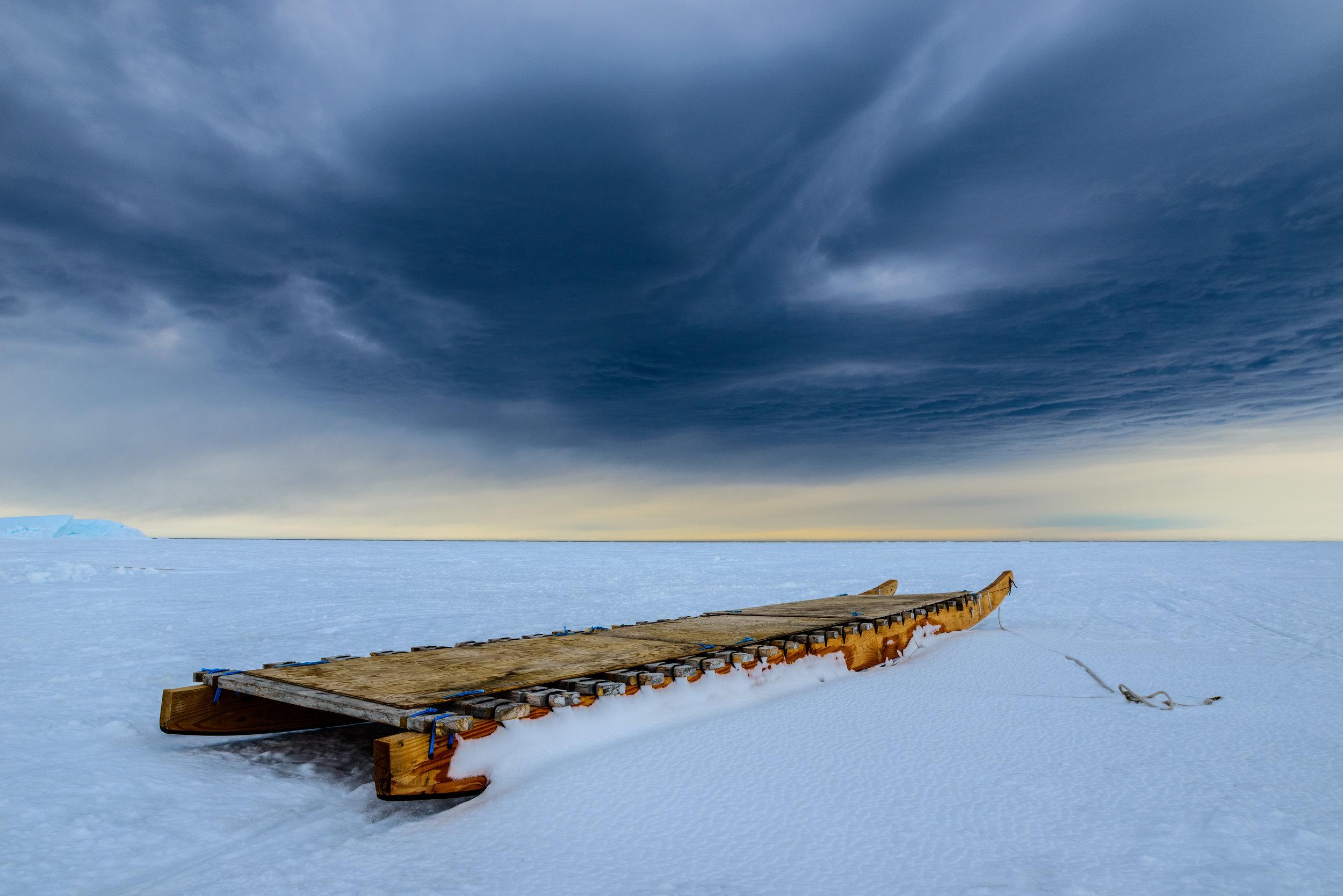 Inuit Komatic at the Floe Edge