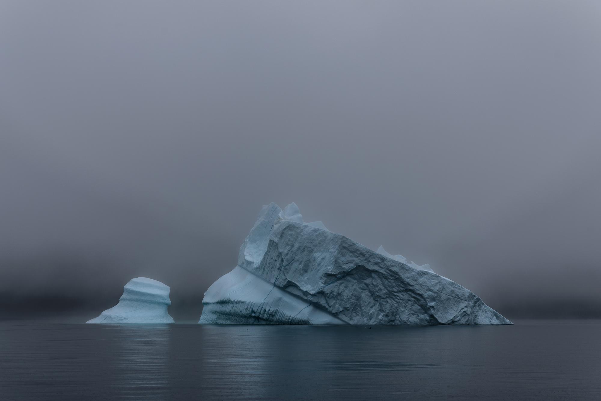 Iceberg in the Morning Mist