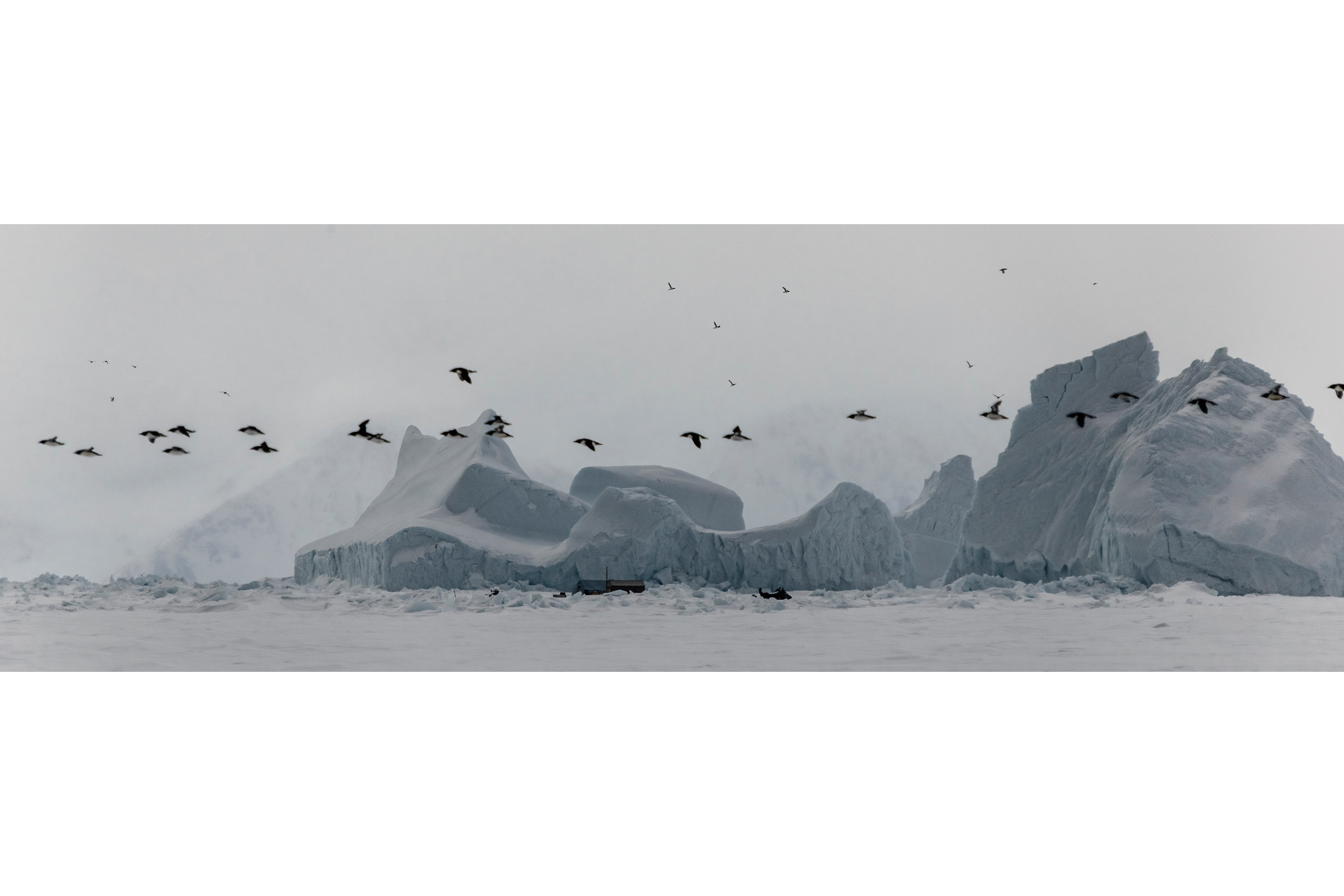 Inuit Hunting Camp on the Sea Ice