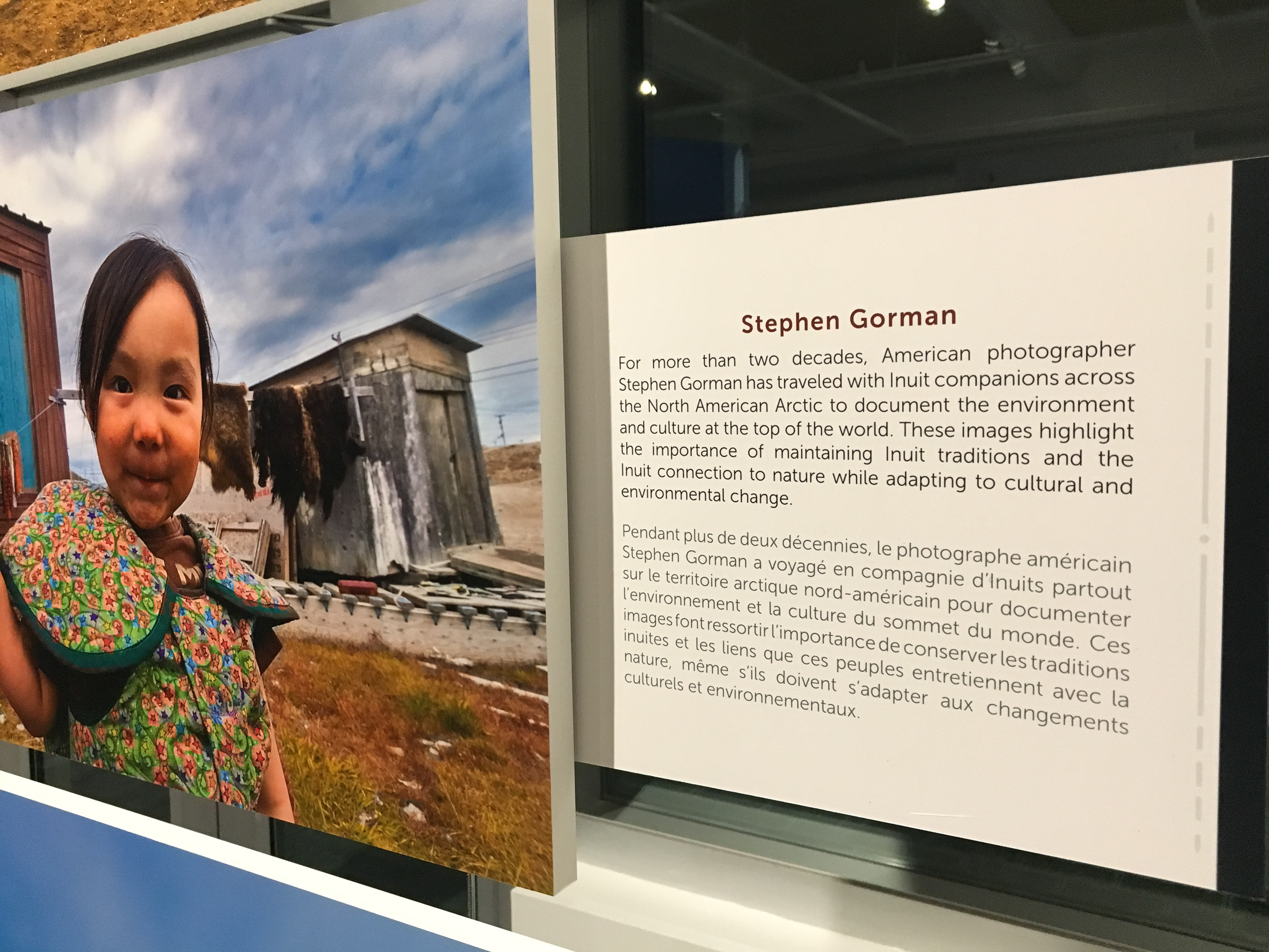 Stephen Gorman is the primary American photographer whose works are included in the exhibition.
