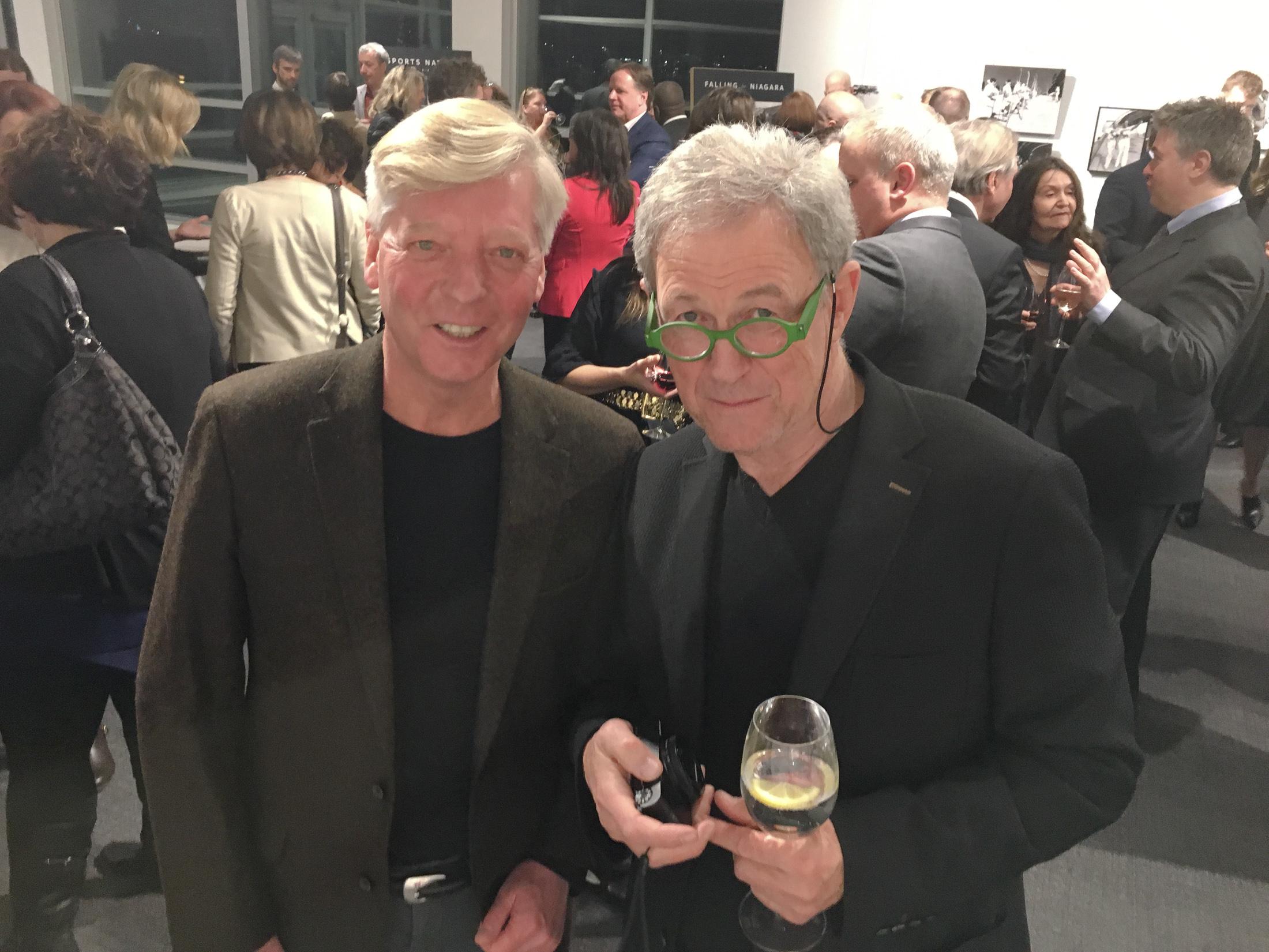 Stephen Gorman and legendary Canadian photographer Yuri Dojc at the reception.