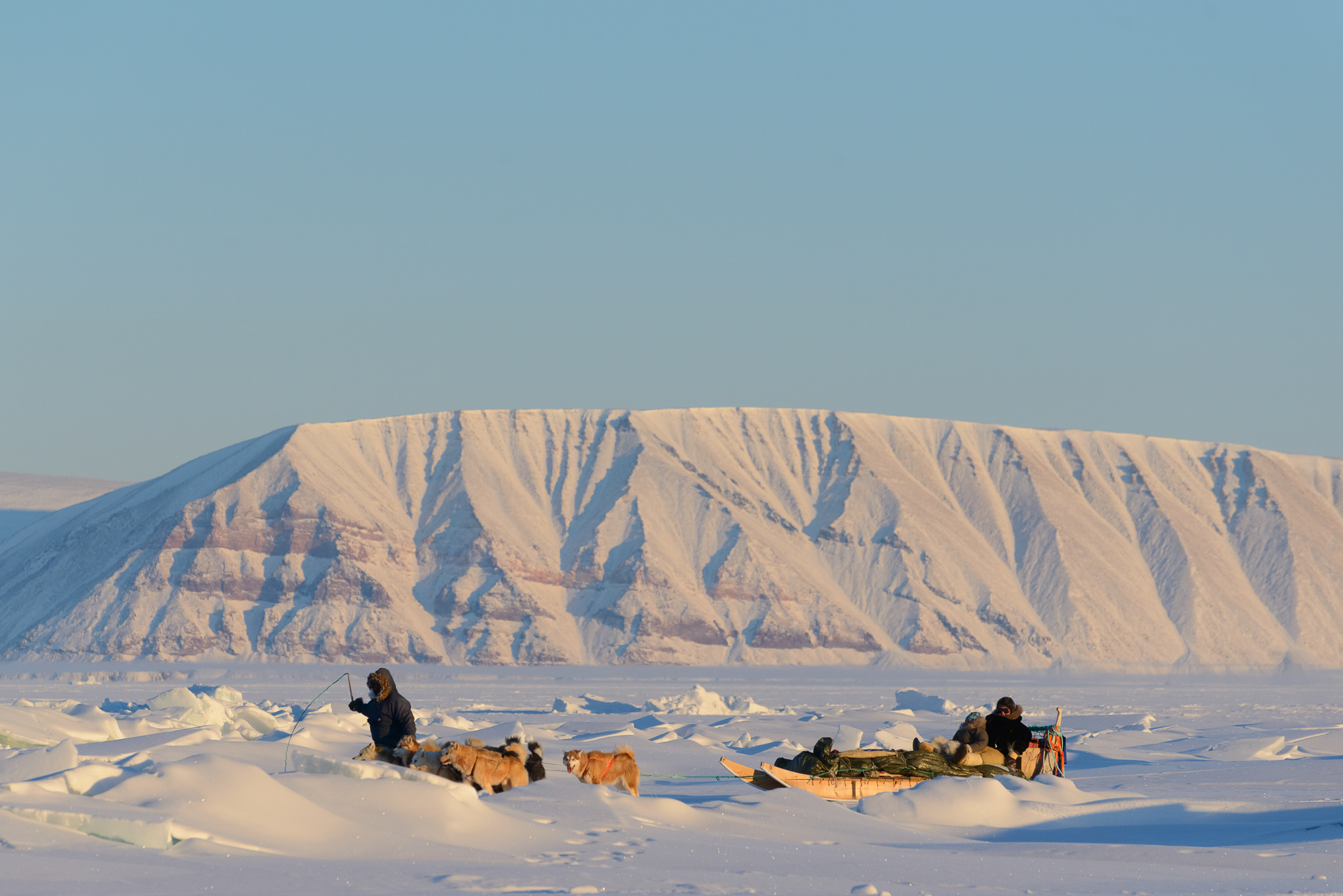 An Inuit Family on the Move