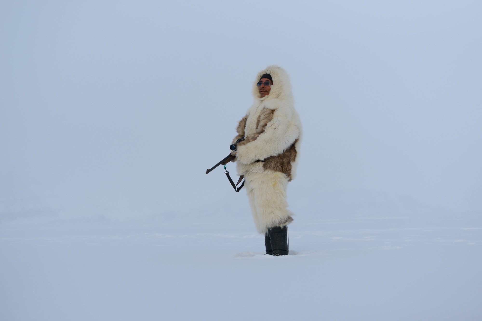 Tomas Scanning the Sea Ice for Seals