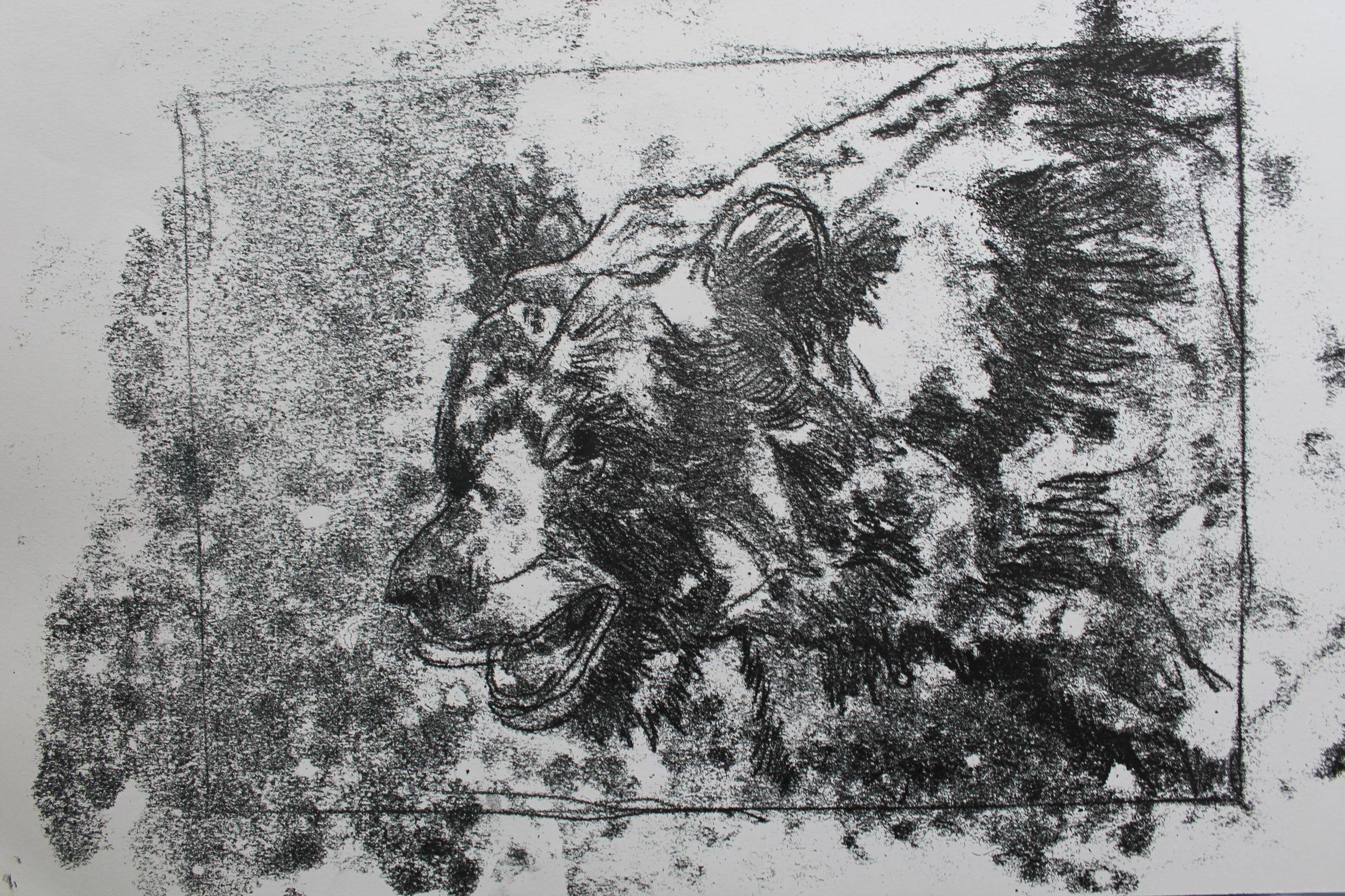 Bear monoprint 1