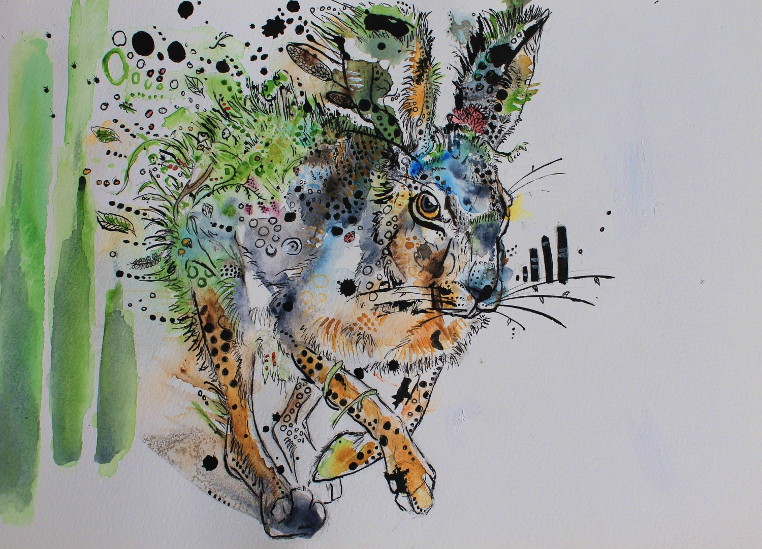 My 2013 'Flora Rabbit' in watercolour and ink.