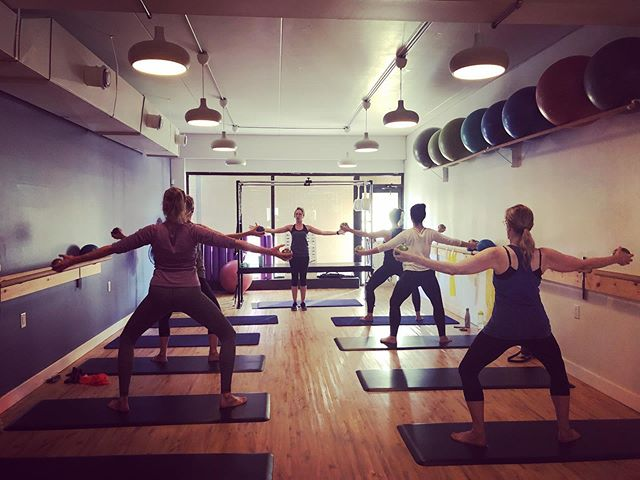Barre class! 🌼 Join us for barre classes during these times: Monday 8pm with Sinead  Tuesday 7pm with Caleigh Wednesday 9:30am with Caleigh & 7pm with Ashley Thursday 10:30am with Alisun & 8pm with Sinead 🌼 Come Feel the Barre shakes for yourself!