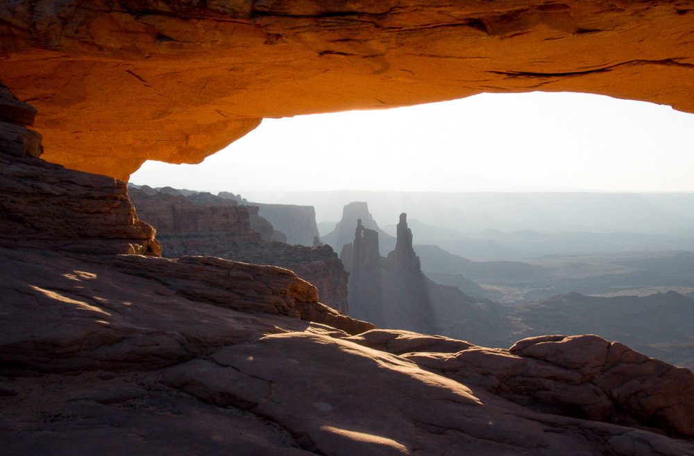 Mesa Arch with LaSalle Mountains